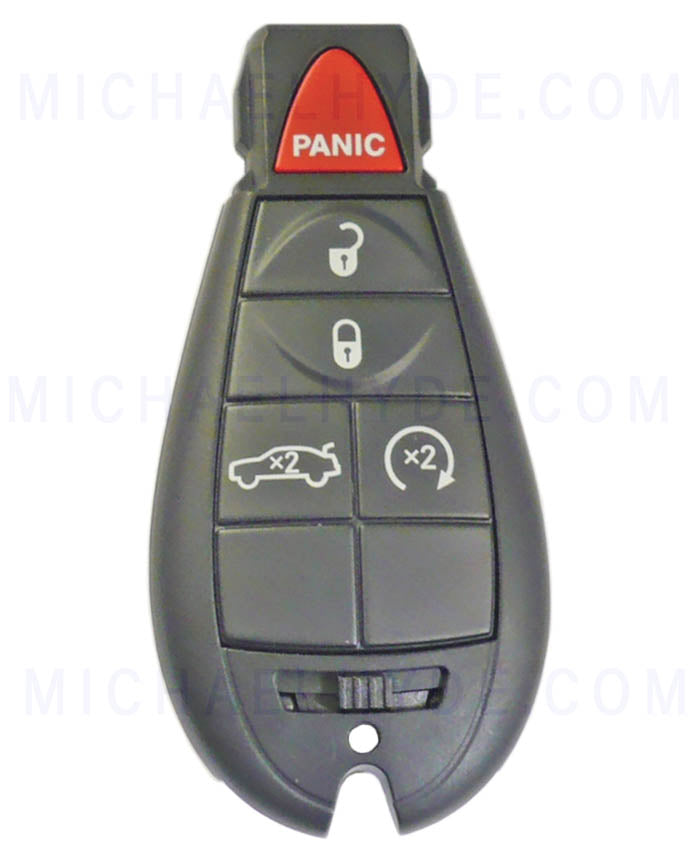 "Challenger 2009-11 Dodge ""HEMI 392"" Fobik Remote 5 Buttons - with KEYLESS GO (Factory Original) 56046668AA"