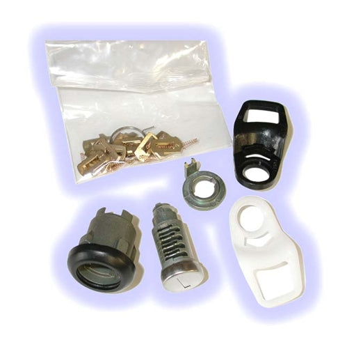 ASP D-23-208, Lemans 88-92 Door Lock, Uncoded service pack including pawl-tailpiece (Right & Left) (D23208)