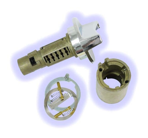 ASP LC1449U, Ignition Lock Part, Uncoded Cylinder, Chrysler, Dodge, Plymouth (LC1449U)  LockCraft, Chrome Color