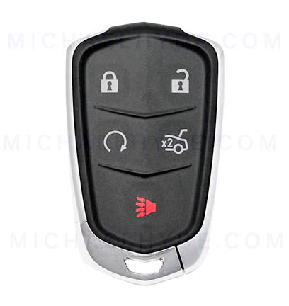 PRX-CAD-5B5 - Cadillac 5 Button Proximity Remote Fob - FCC: HYQ2AB - 315 Mhz - AX00013210 - ILCO Look-Alike-Remotes - Includes Emerg Key - OE Part: 13580800, 13598528