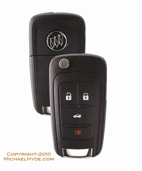 5912558 Buick 4-Btn Flip Out Remote Key (with Prox) Strattec