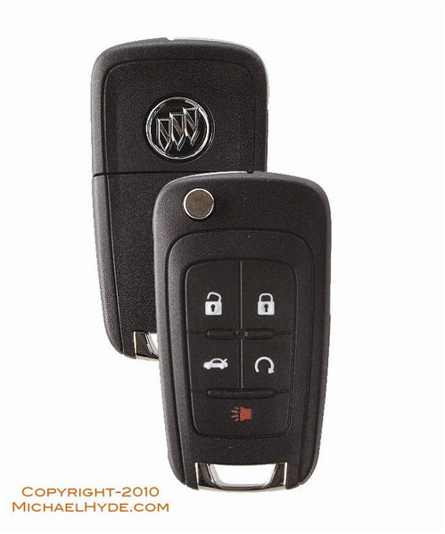 5912559 Buick 5-Btn Flip Out Remote Key (with Prox) Strattec