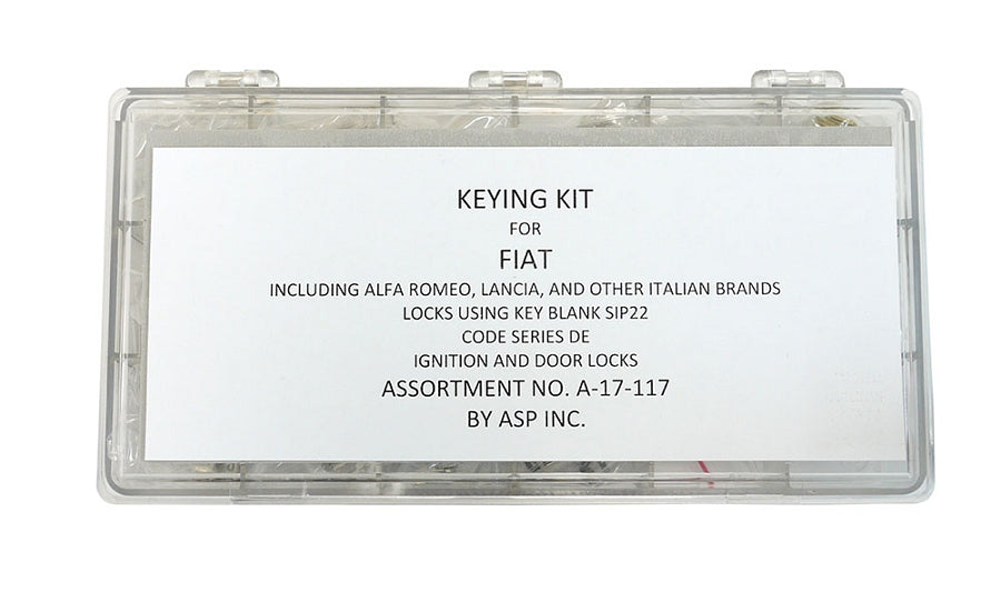 ASP A-17-117 kit for newer Fiats, Alfa Romeo, Lancia SIP22 Keyway A17117