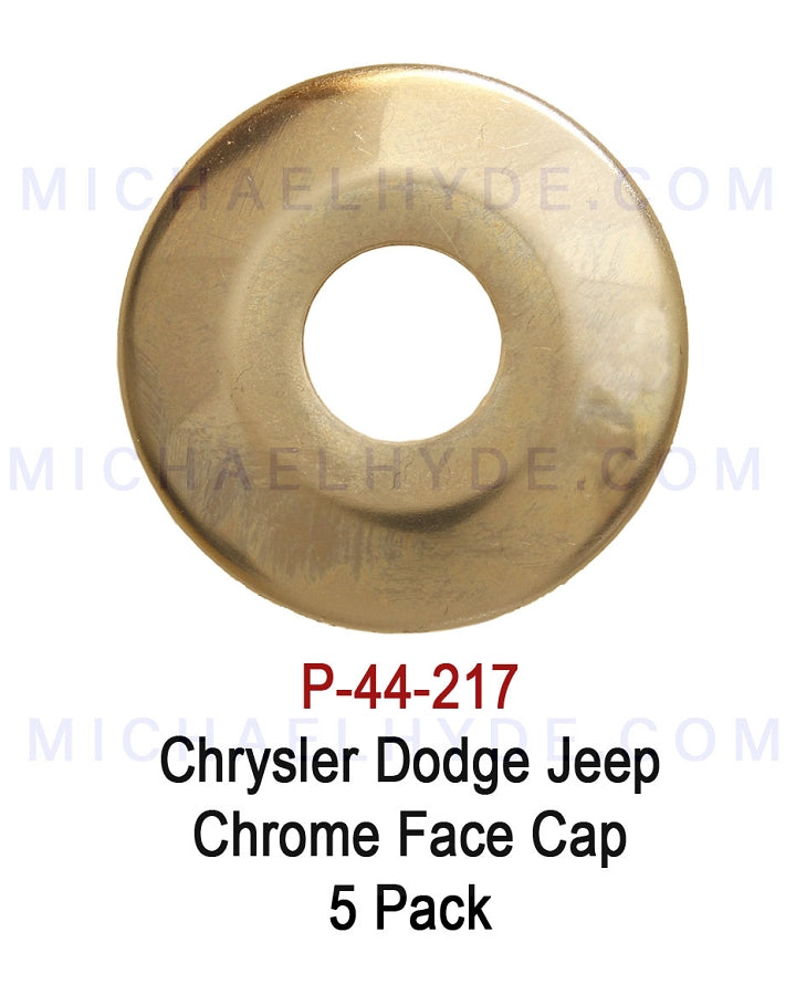 Chrysler Dodge Jeep Chrome Face Cap - 5 pack - ASP P-44-217 (same as Strattec 322824)
