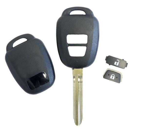 Camry & Prius Toyota 2-Button Remote Head Shell Key - Generic - Closeout