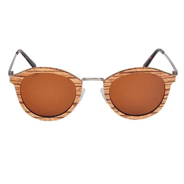 Polarized Sunglasses Men Vintage Wood