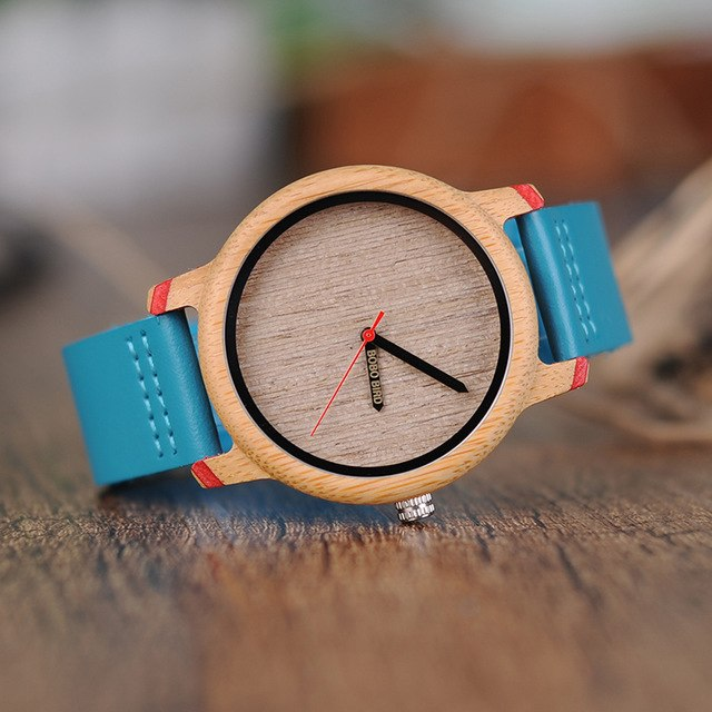 Unisex Simple Bamboo Wood Watch