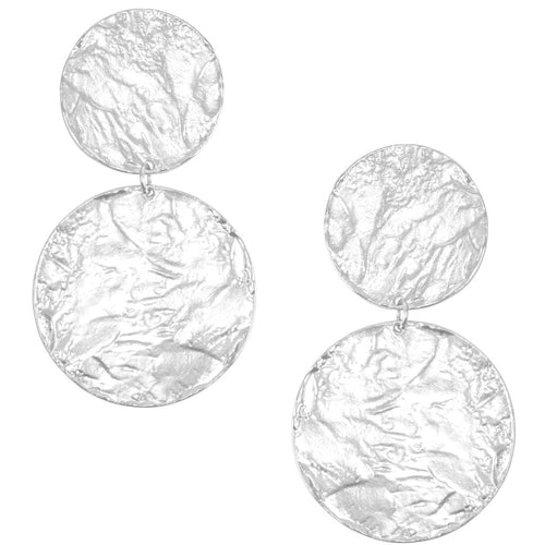 Double Discs Statement Earrings