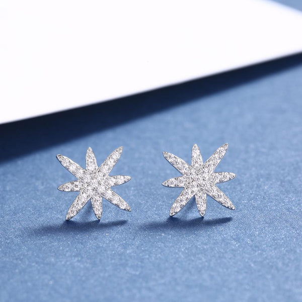 Star Sterling Silver Earring