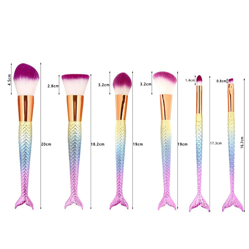 MAKEUP BRUSHES Mermaid Melody