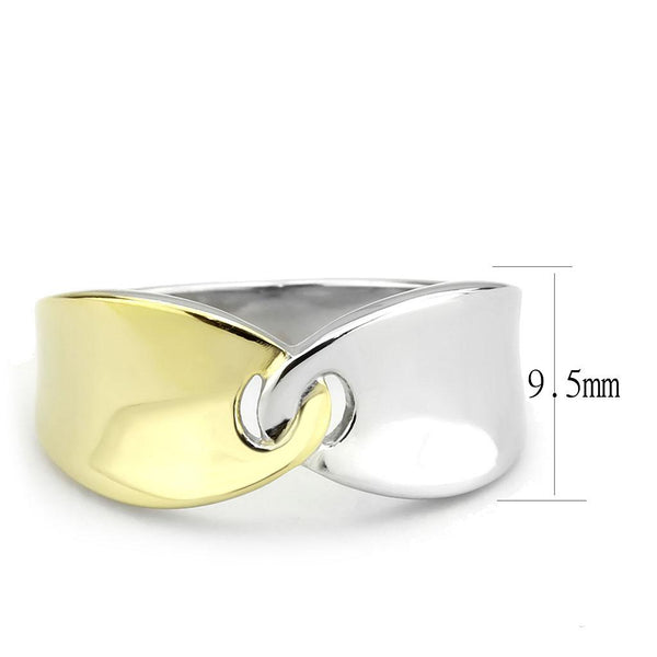 Unity Two-Tone Ring IP Gold (Ion Plating) Stainless Steel