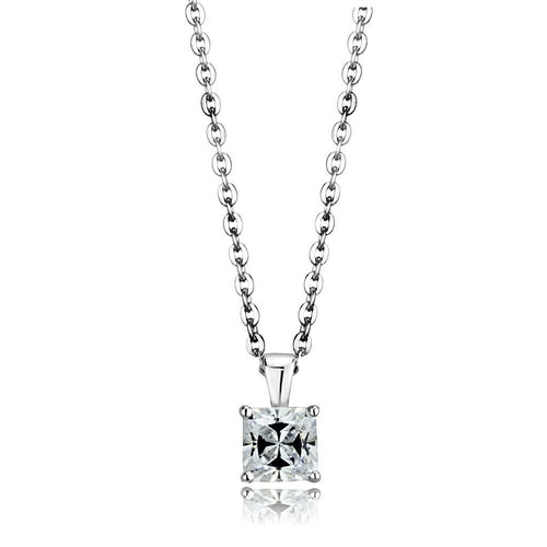 Silver Chain Pendant with Crystal Rhodium 925 Sterling