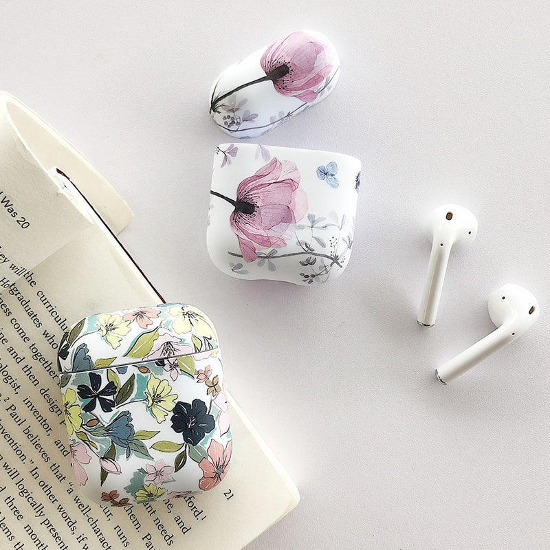 Vintage Art Flower Earphone Case For Apple Airpods 2 1