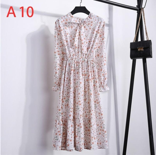 Autumn Women Dress with Long Sleeve