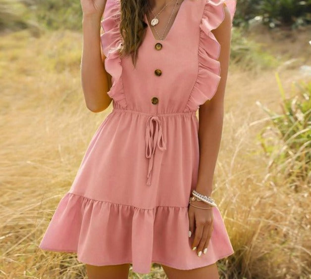 Tunic High Waist  Ruffle Dress