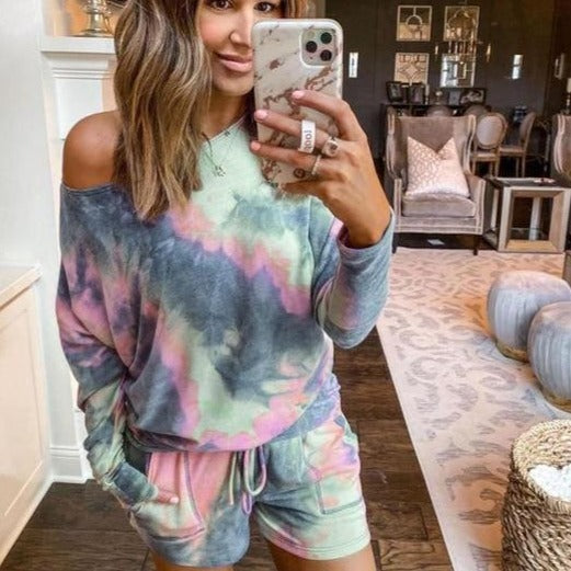 Two Piece  Set - Tie Dye Lounge
