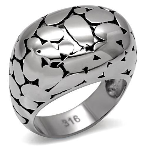 Silver and Black Classy Ring High polished (no plating) Stainless Steel