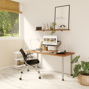 Ella Fixed Height Desk (Cherry), by Special T