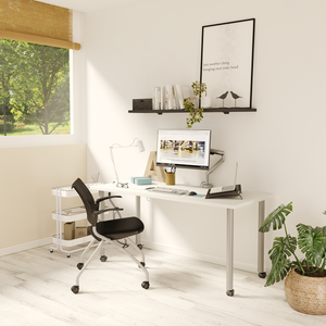 Ella Fixed Height Desk (White), by Special T