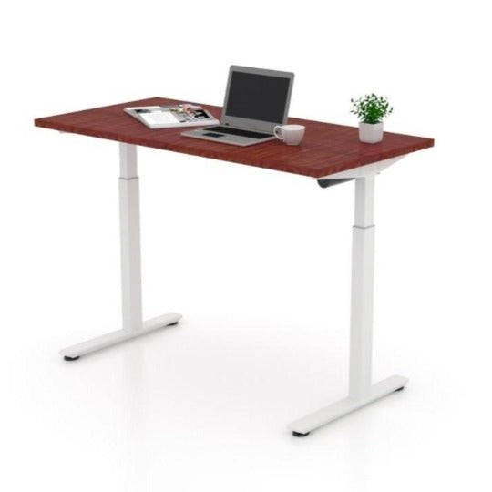Height Adjustable Table (American Dark Cherry), by Offices To Go