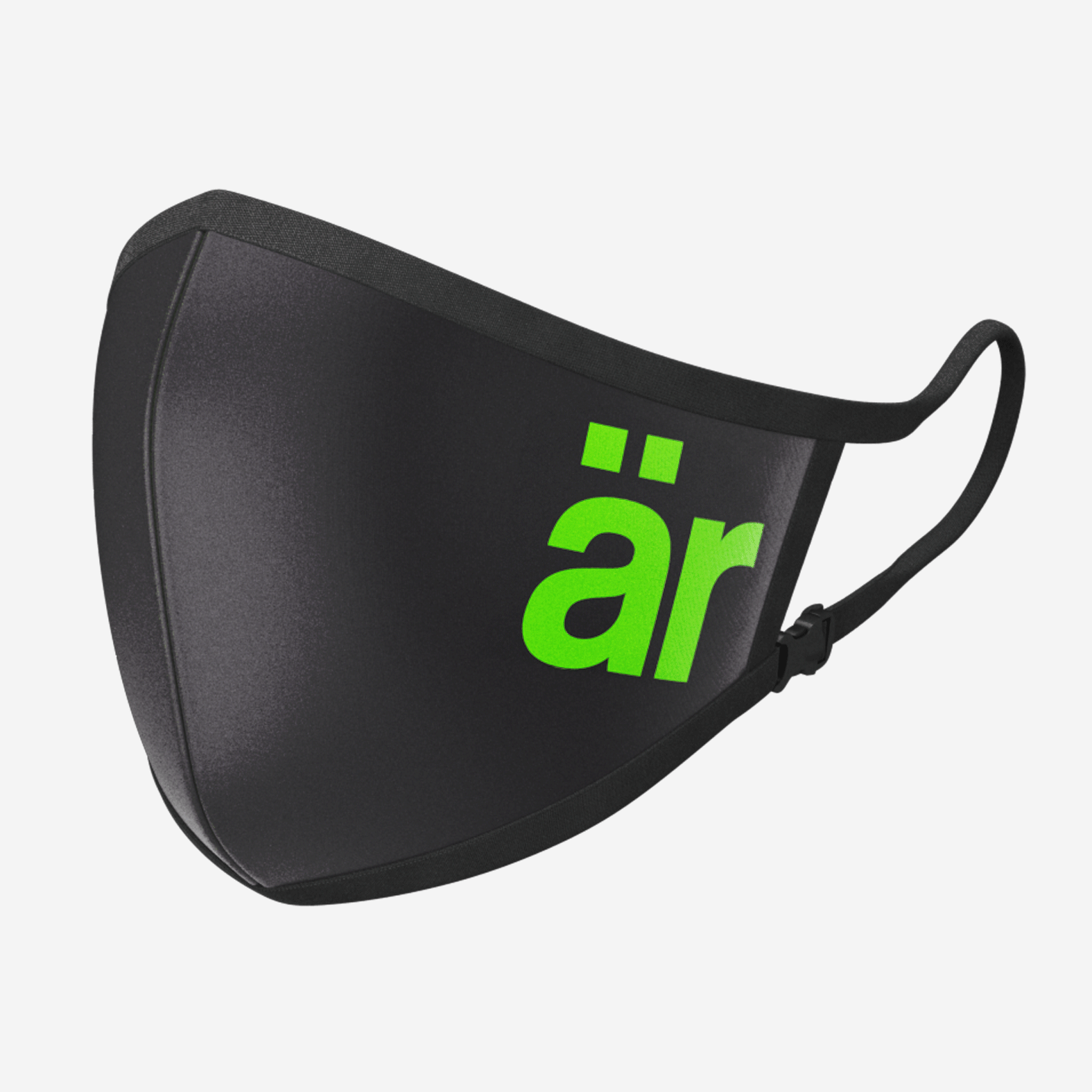 Self-cleaning Face Mask with Nanofilter �r Big logo Neon Green