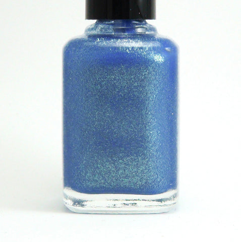 Great Scott! - blue w/ gold glass fleck shimmer - GLOWS blue-more