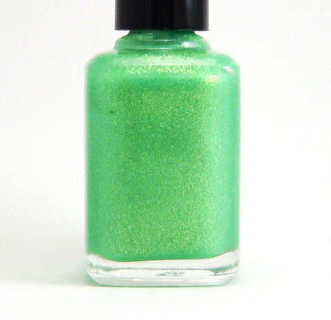 Lime Warp - lime green glass fleck shimmer - GLOWS-more