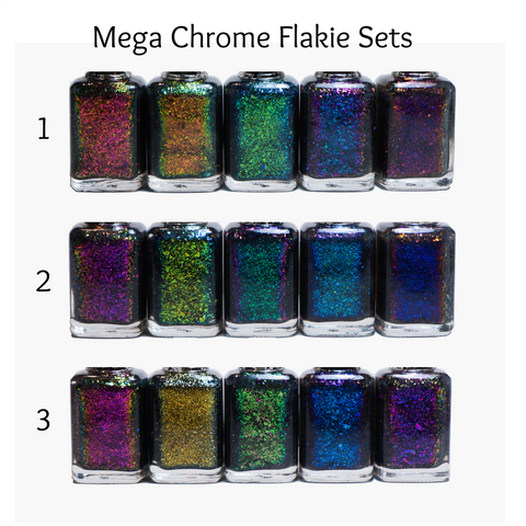 Mega Chrome Flakies FULL SET (15 polishes)