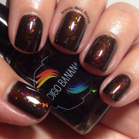 Land Before Swine - brown shimmer and multichrome flakies-more