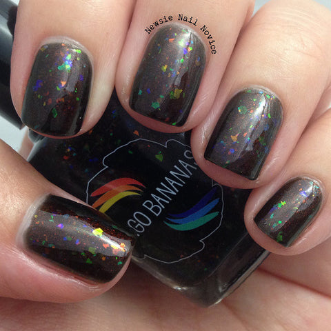 Land Before Swine - brown shimmer and multichrome flakies