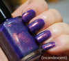 Hole in the Sky - purple colorshifting flakie, shimmer & linear holo