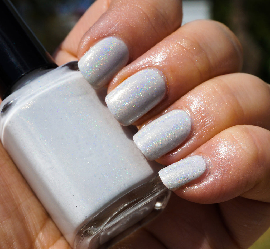 Aether Or - light grey linear holographic creme