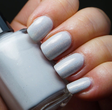 Aether Or - light grey linear holographic creme-more