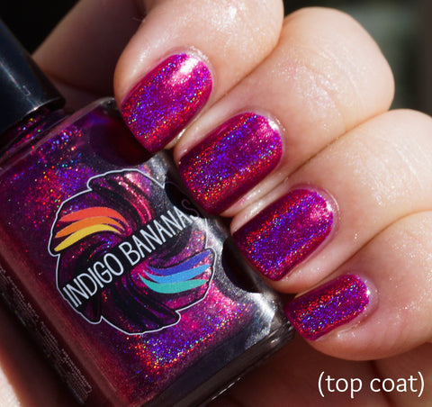 Polish of Unusual Quality (P.O.U.Q. / POUQ) - magenta linear holographic-more