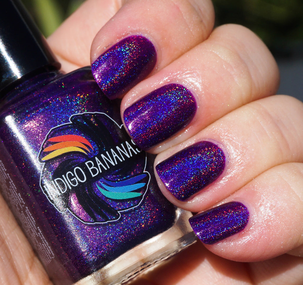 Rhythm & Booze - purple linear holographic