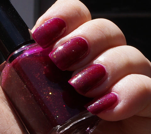 Reign - garnet / blood red colorshifting flakie-more