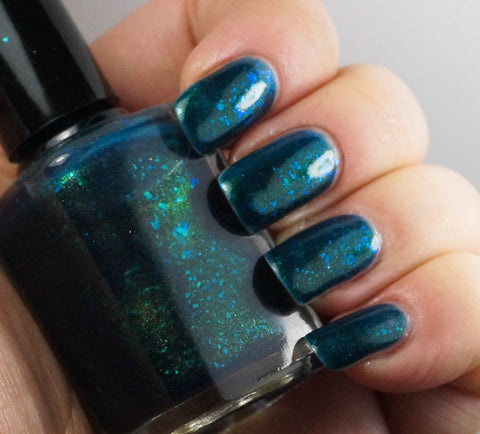 Acid Ocean - deep blue with aqua/green colorshifting flakies-more