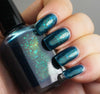 Acid Ocean - deep blue with aqua/green colorshifting flakies