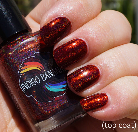 Synonym Bun - warm brown / red-brown linear holographic-more