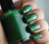 Countdown to Extinction - vibrant green colorshifting flakie