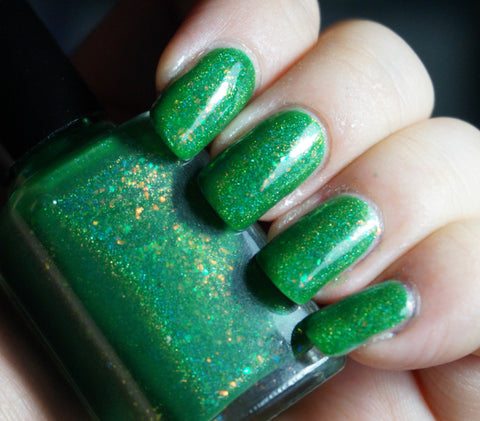 Countdown to Extinction - vibrant green colorshifting flakie-more