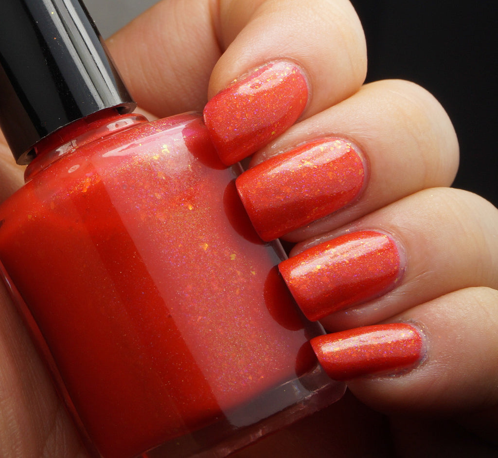 Molten Universe - orange red / coral colorshifting flakie & shimmer