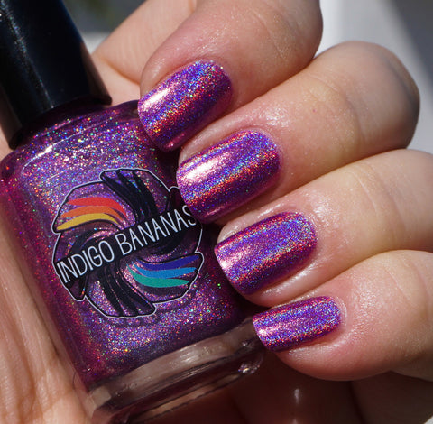 Call Me Mabel - pink linear holographic - super holo