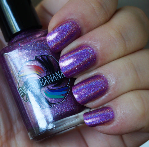 Call Me Mabel - pink linear holographic - super holo-more