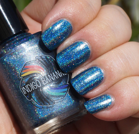 Little Big Dipper - blue linear holographic - super holo-more