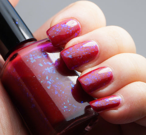 Grave Importance - red/dark pink with aqua/blue colorshifting flakies-more