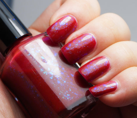 Grave Importance - red/dark pink with aqua/blue colorshifting flakies