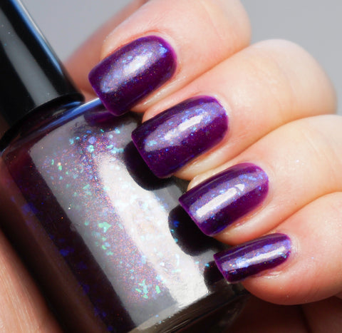 Perfect Night (for Mystery & Horror) - purple with aqua/blue colorshifting flakies & shimmer-more