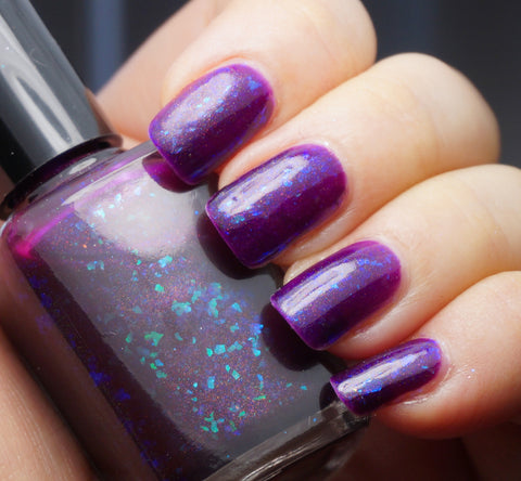 Perfect Night (for Mystery & Horror) - purple with aqua/blue colorshifting flakies & shimmer