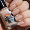 Carpet Diem - pale beige crelly with multicolor crystal flakies